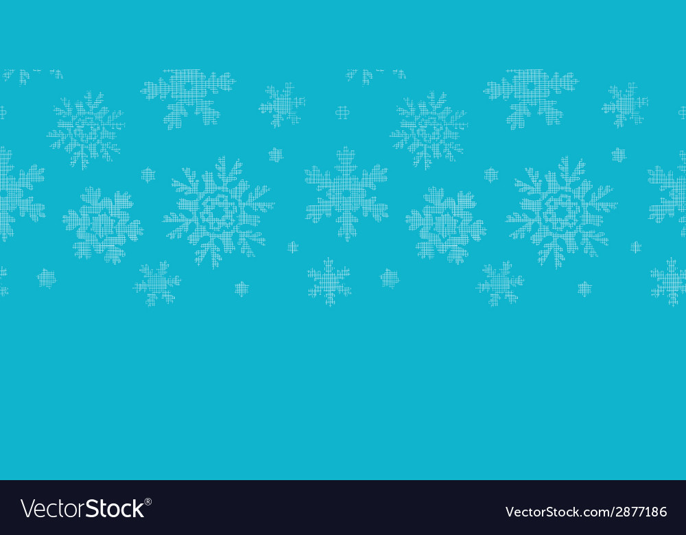 Blue lace snowflakes textile horizontal border vector | Price: 1 Credit (USD $1)
