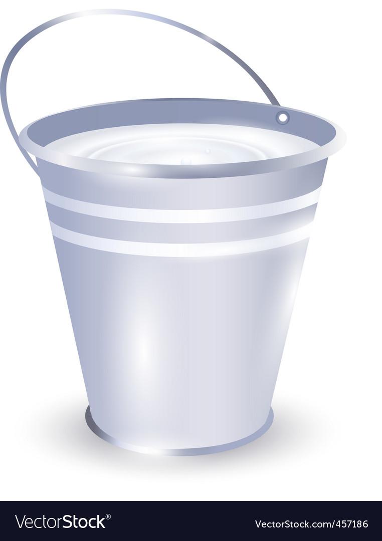 Bucket with milk vector | Price: 1 Credit (USD $1)