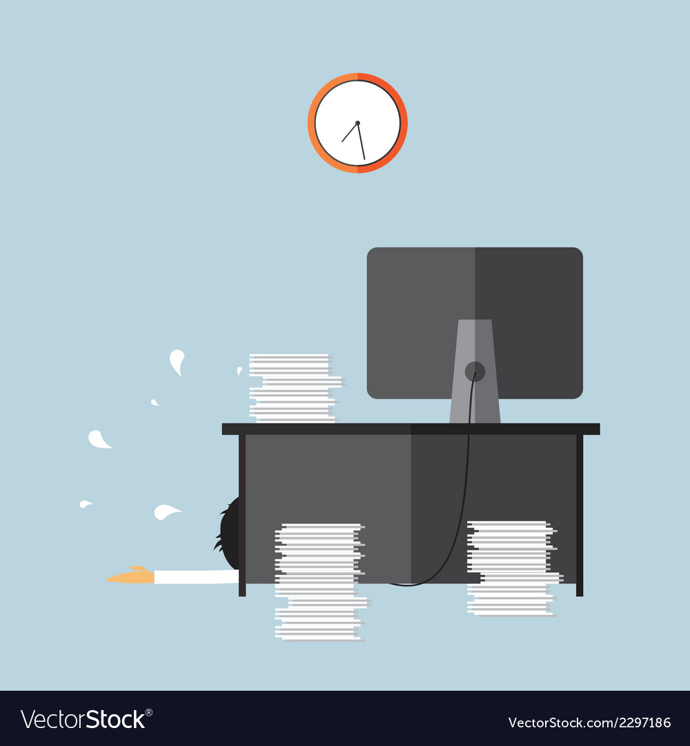 Deadline hard work vector | Price: 1 Credit (USD $1)