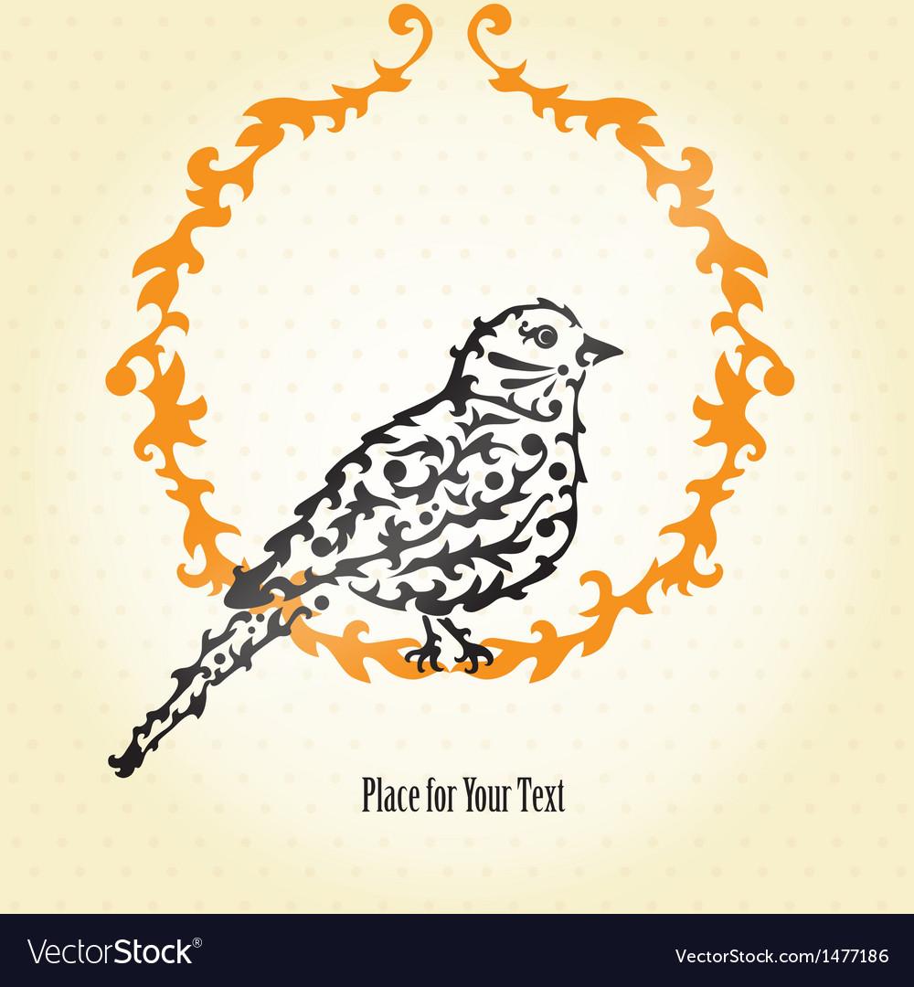 Decorative sparrow vector | Price: 1 Credit (USD $1)