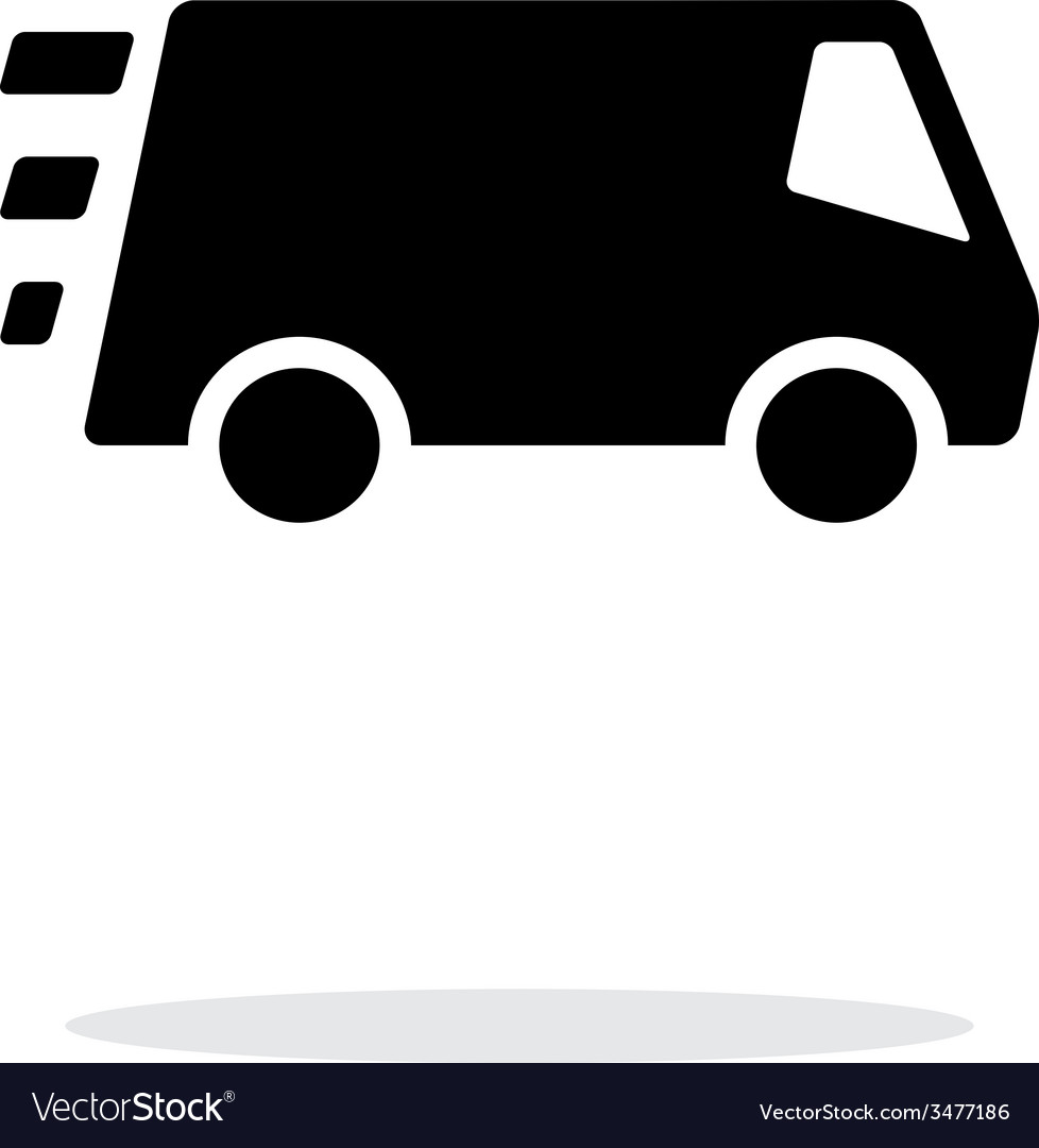 Fast delivery minibus icon on white background vector | Price: 1 Credit (USD $1)