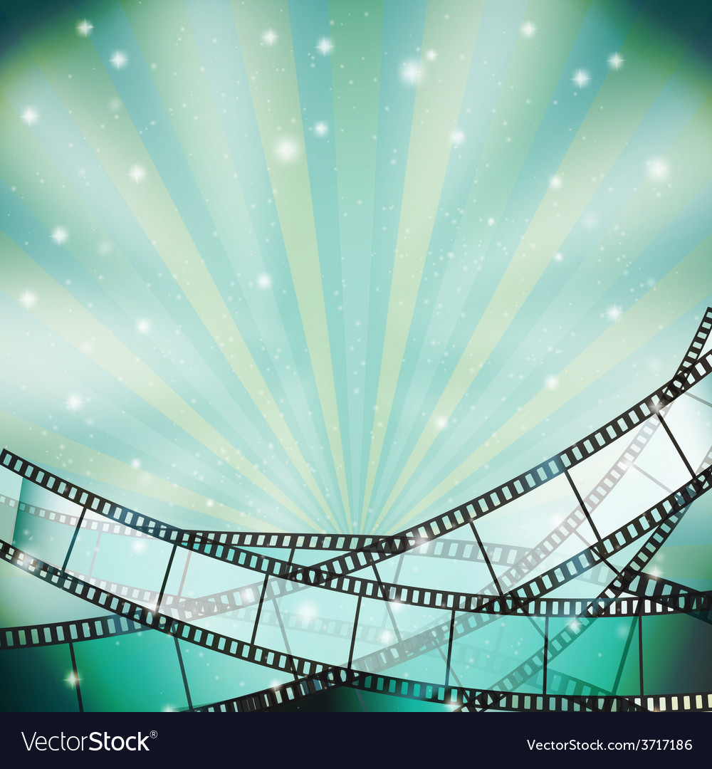 Film background retro blue vector | Price: 1 Credit (USD $1)