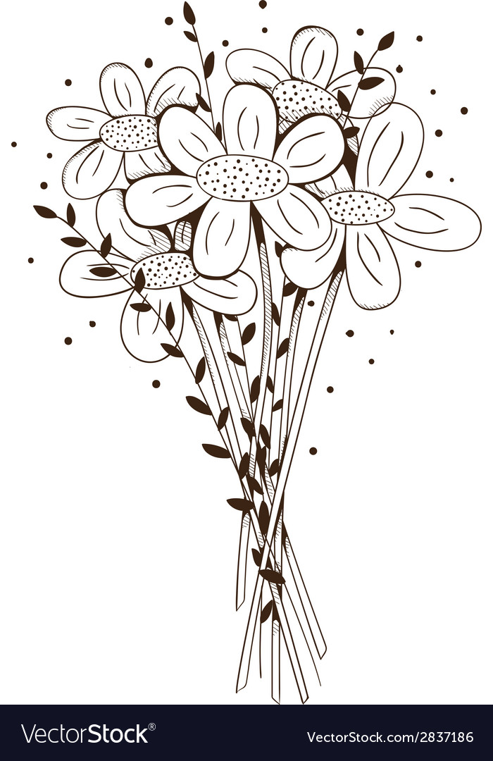 Flowers bouquet vector | Price: 1 Credit (USD $1)