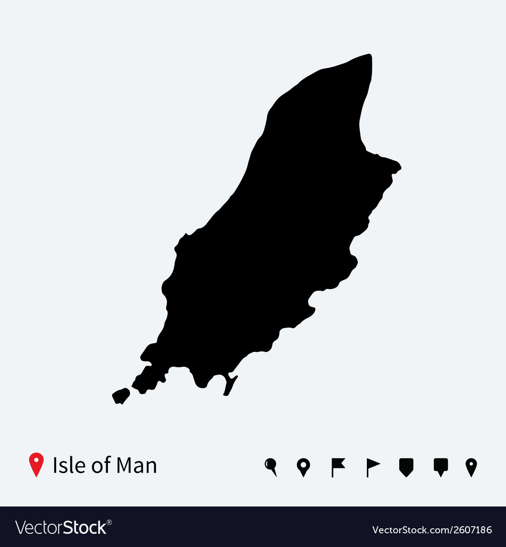 High detailed map of isle of man with navigation vector | Price: 1 Credit (USD $1)