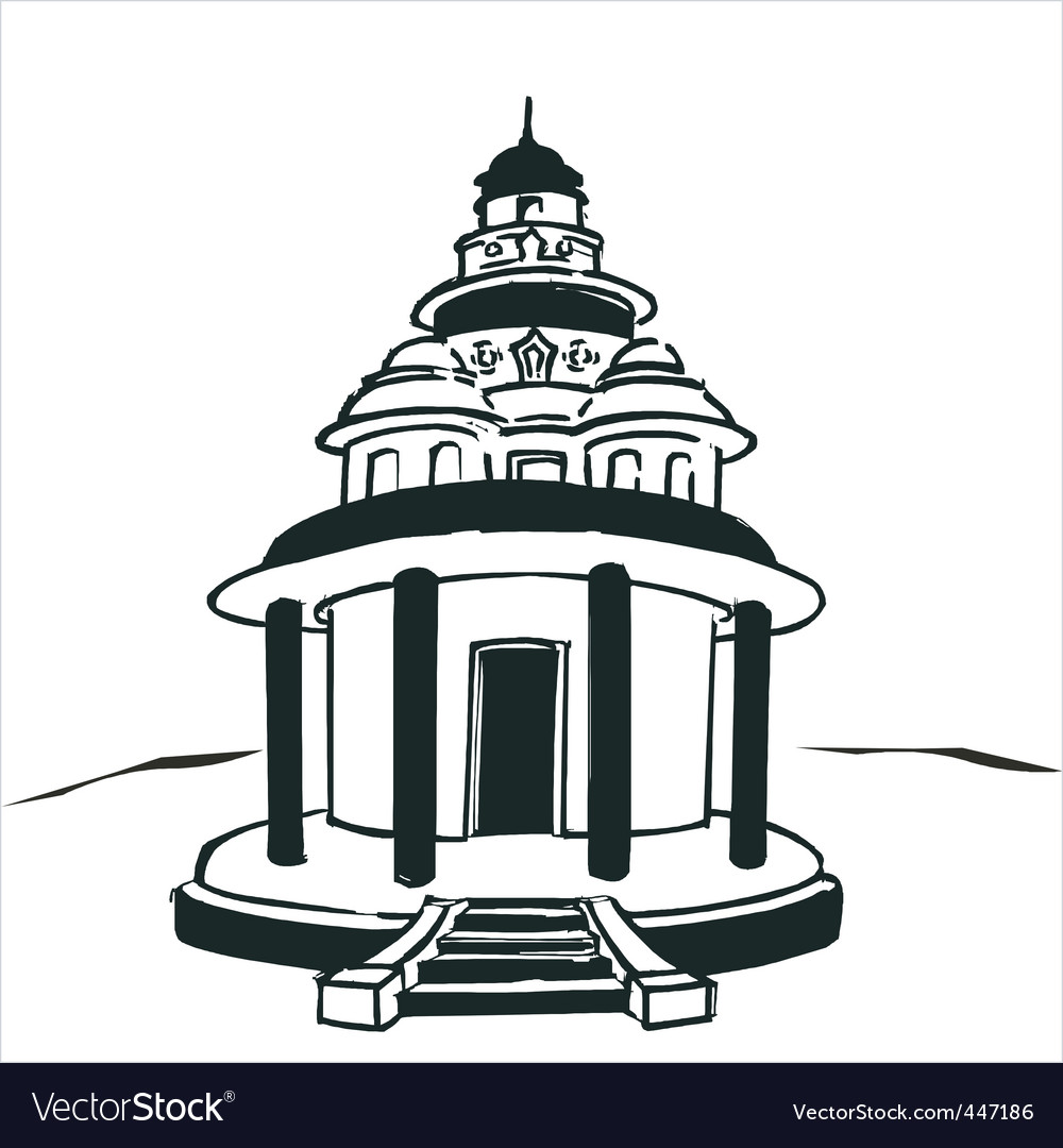 Hindu temple vector | Price: 1 Credit (USD $1)