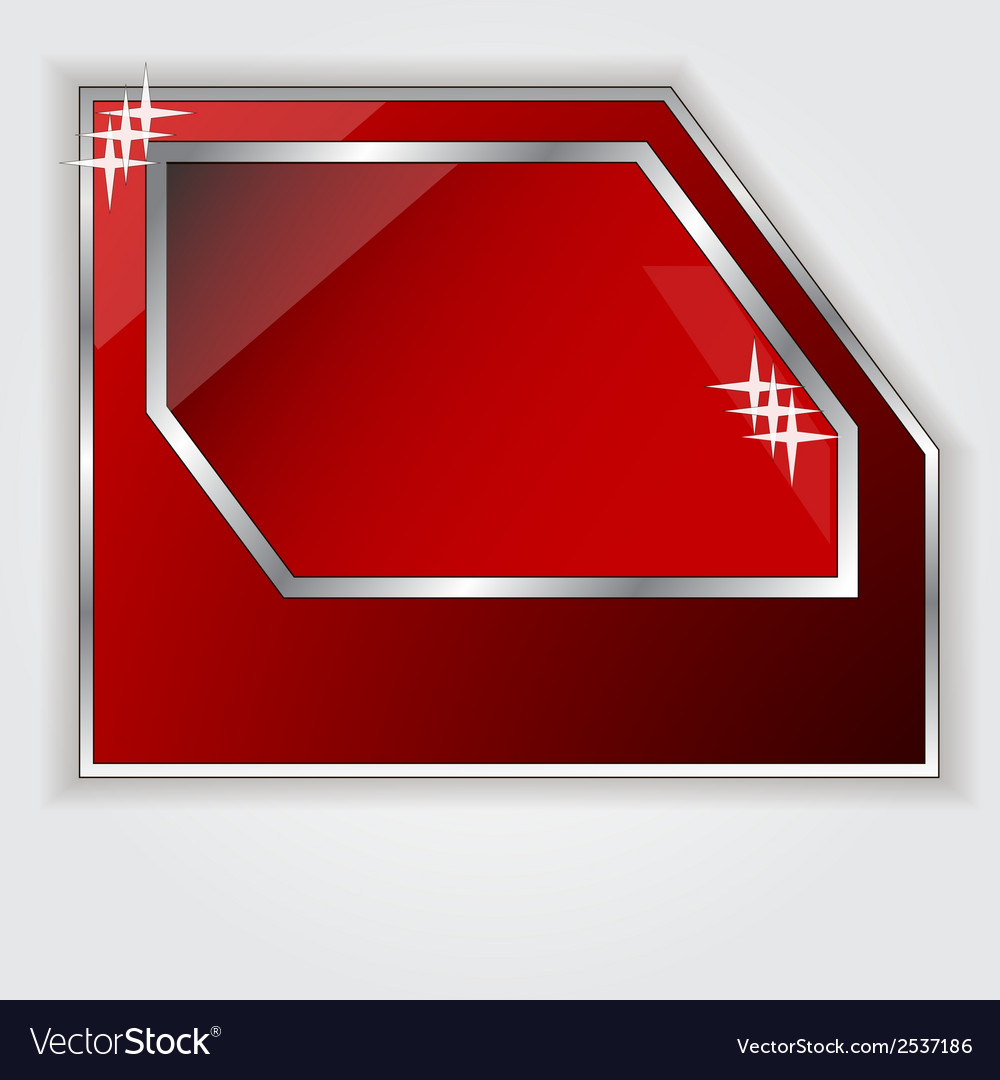 Isolated red frame for your text vector | Price: 1 Credit (USD $1)