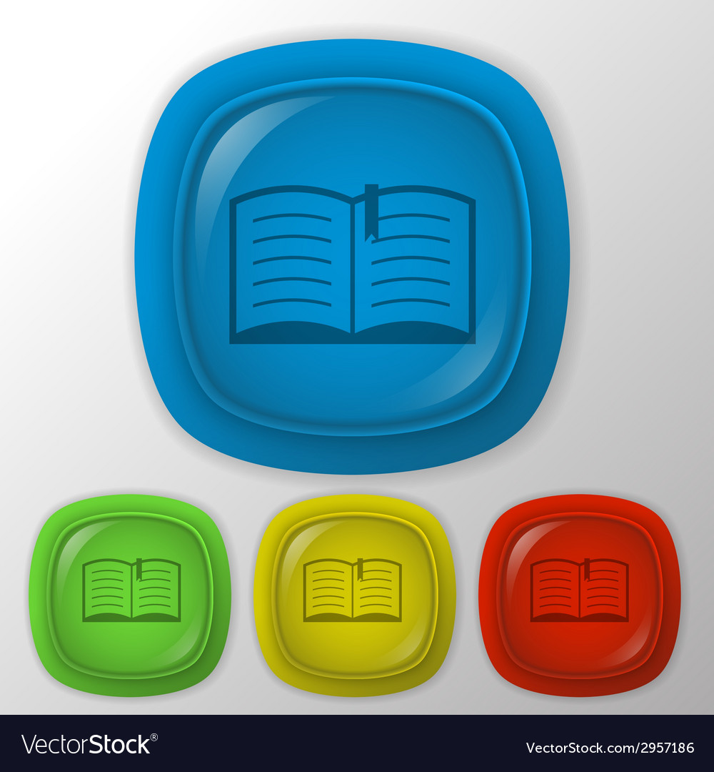 Open book education sign vector | Price: 1 Credit (USD $1)
