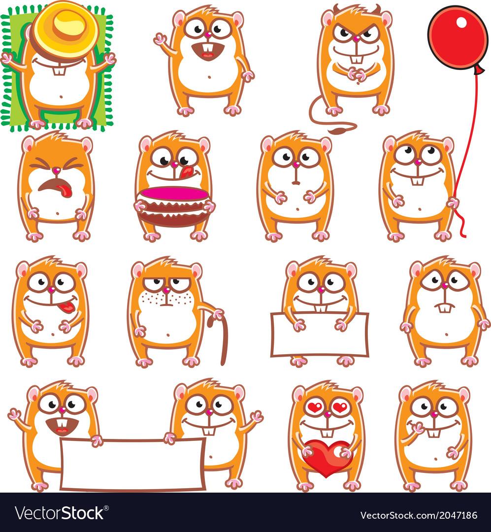 Smiley hamsters vector | Price: 1 Credit (USD $1)