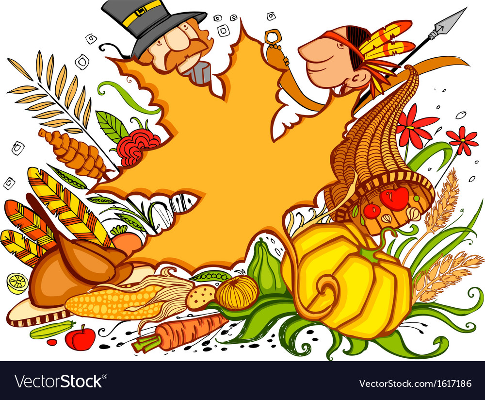 Thanksgiving doodle vector | Price: 1 Credit (USD $1)