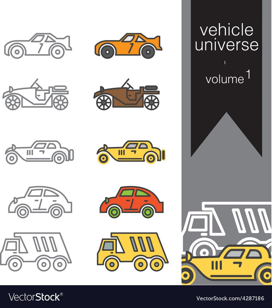 Vehicle universe 1 vector | Price: 1 Credit (USD $1)