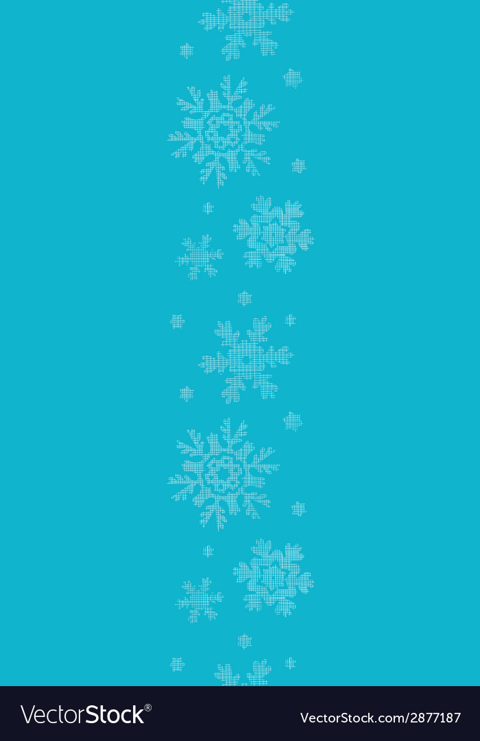 Blue lace snowflakes textile vertical border vector | Price: 1 Credit (USD $1)