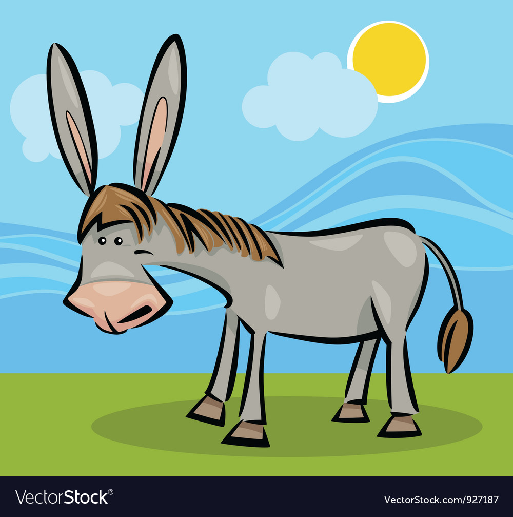 Cartoon of donkey vector | Price: 3 Credit (USD $3)