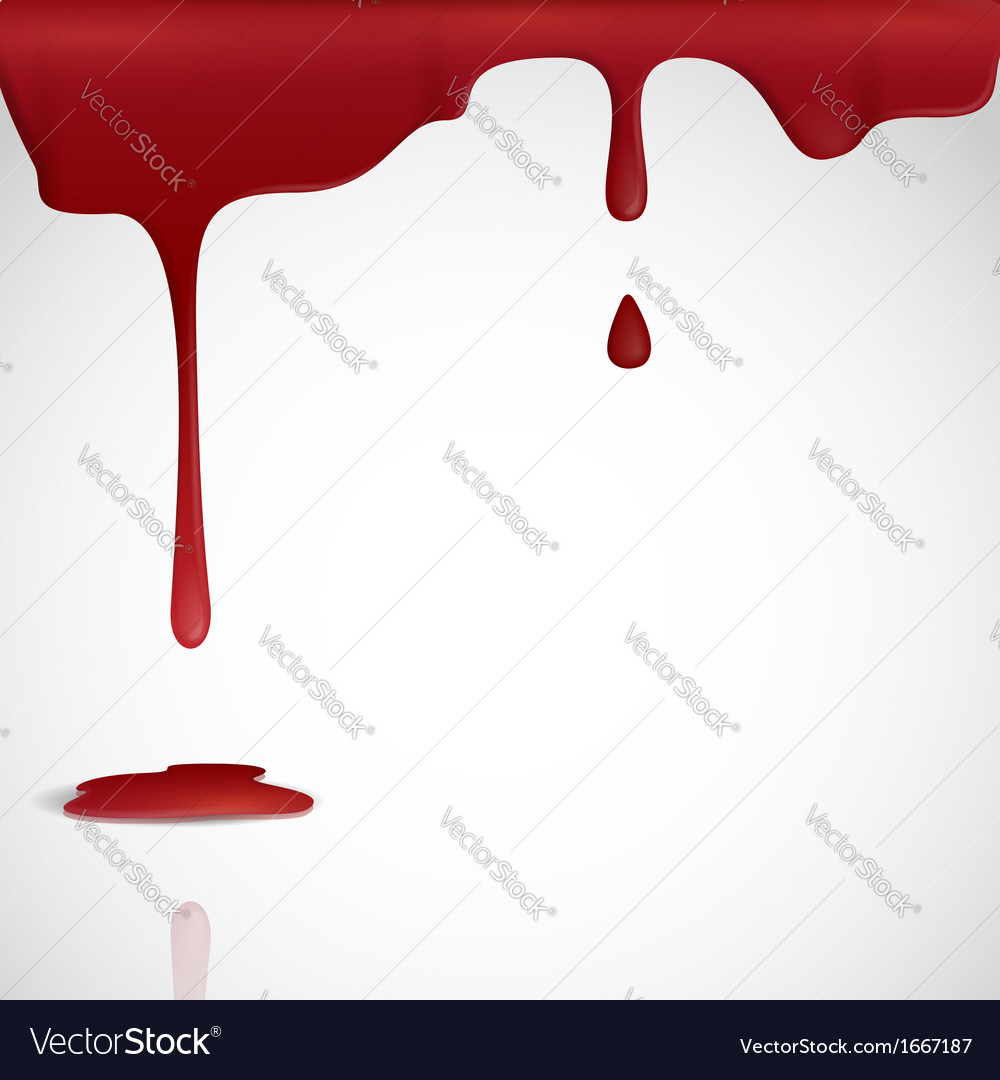 Dripping red blood vector | Price: 1 Credit (USD $1)