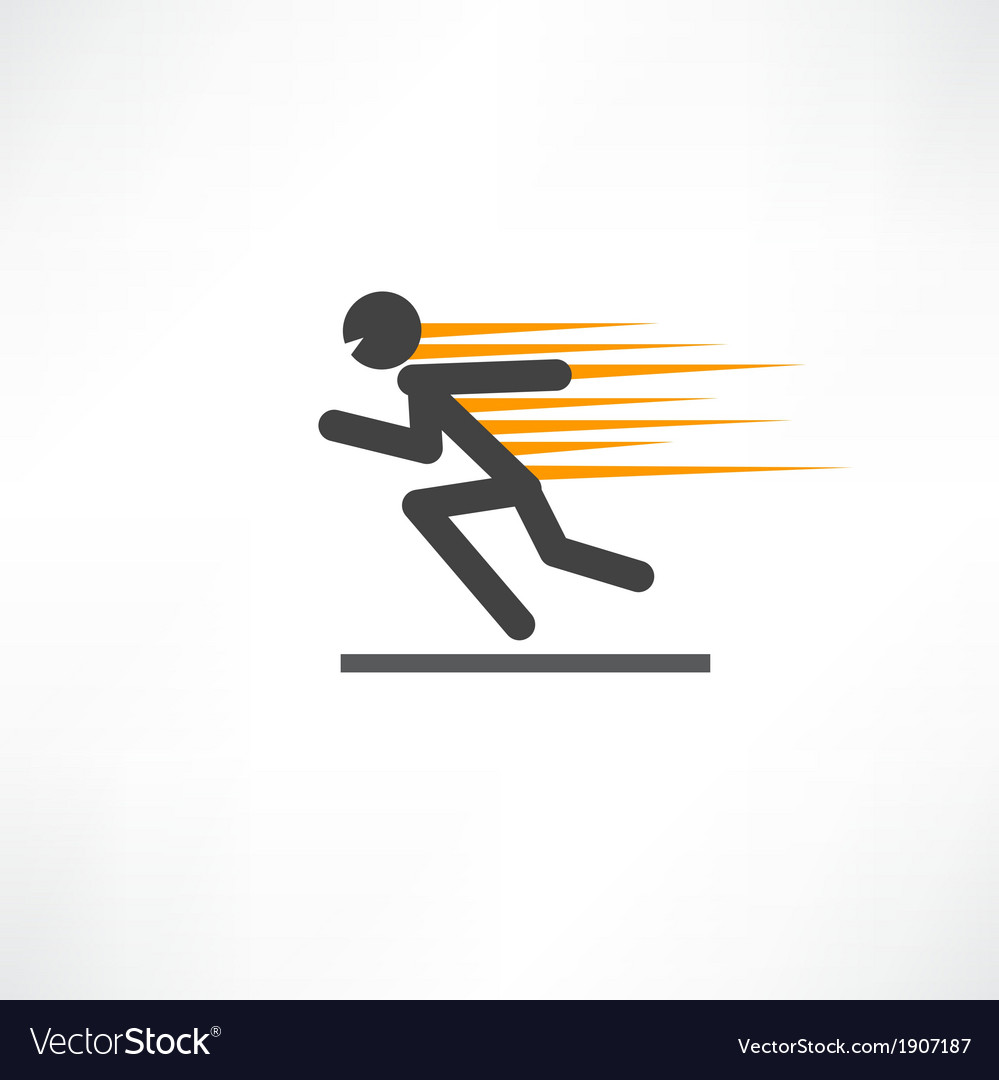 Fast runner vector | Price: 1 Credit (USD $1)