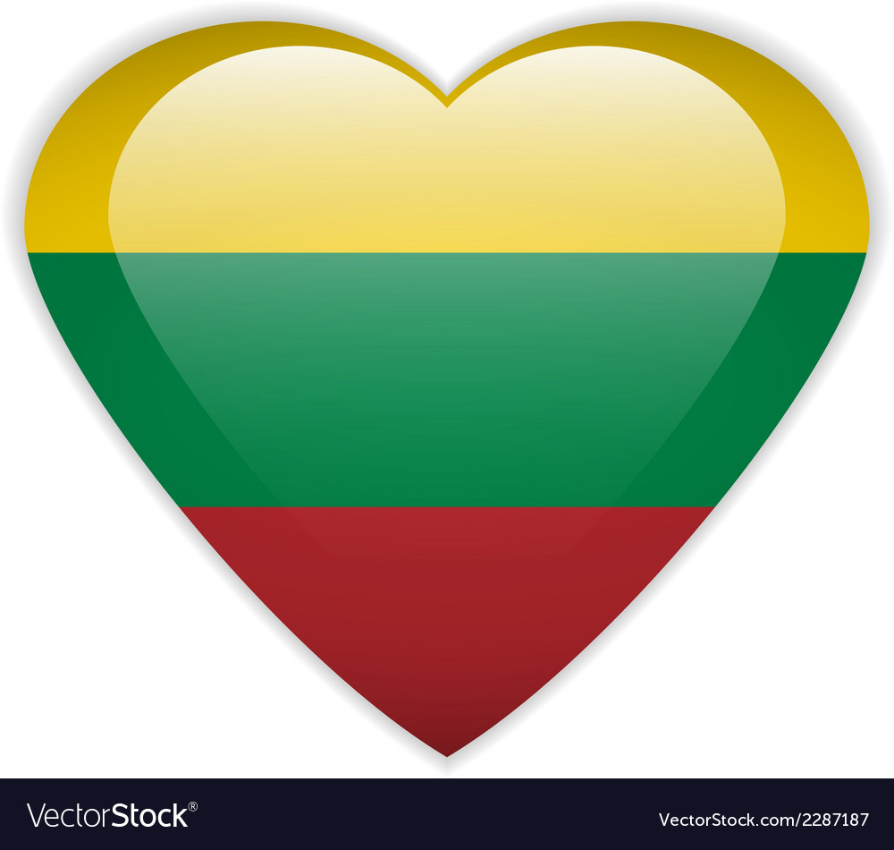 Lithuania flag button vector | Price: 1 Credit (USD $1)