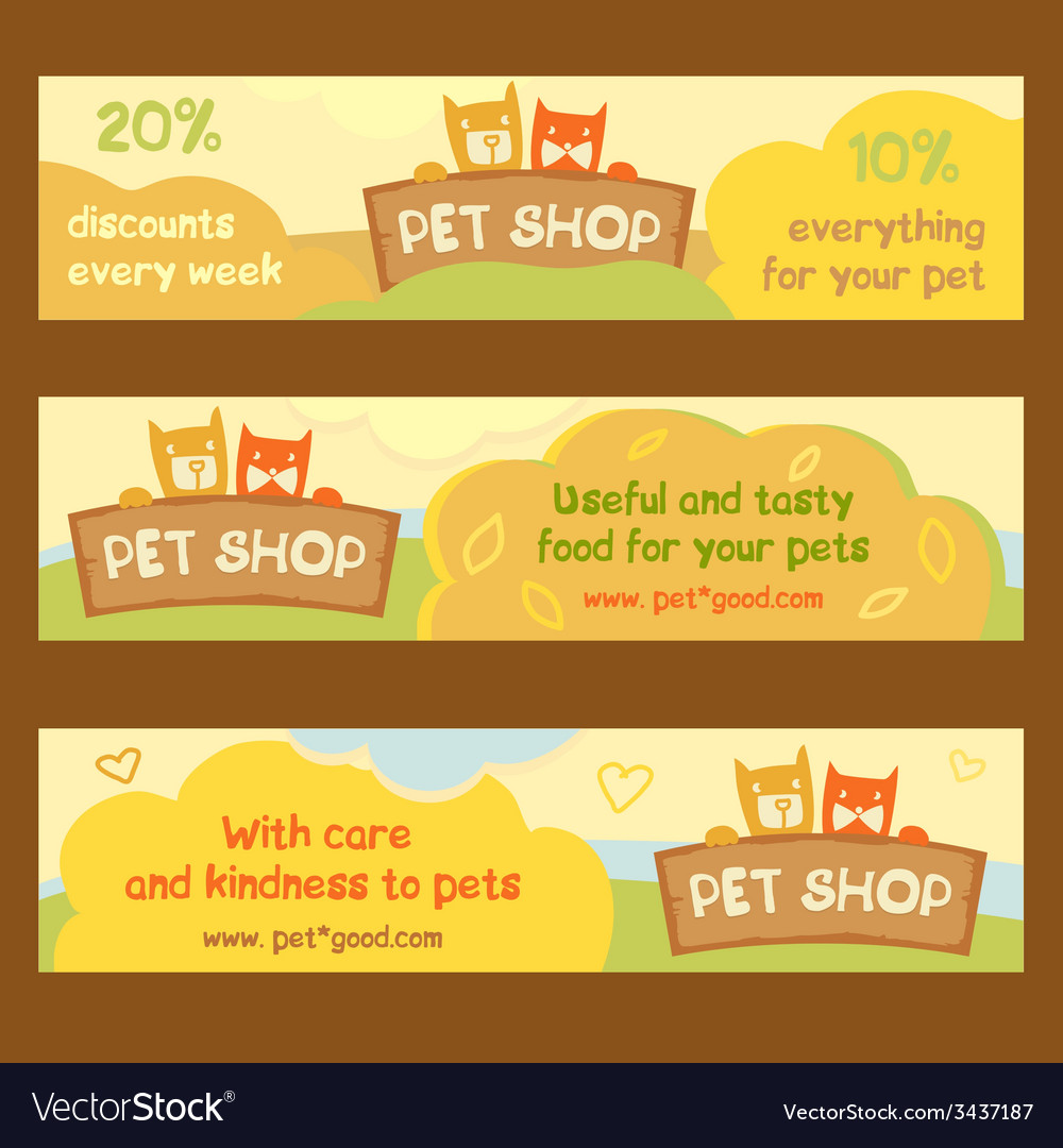 Logo emblem store for cats and dogs cartoon edita vector | Price: 1 Credit (USD $1)
