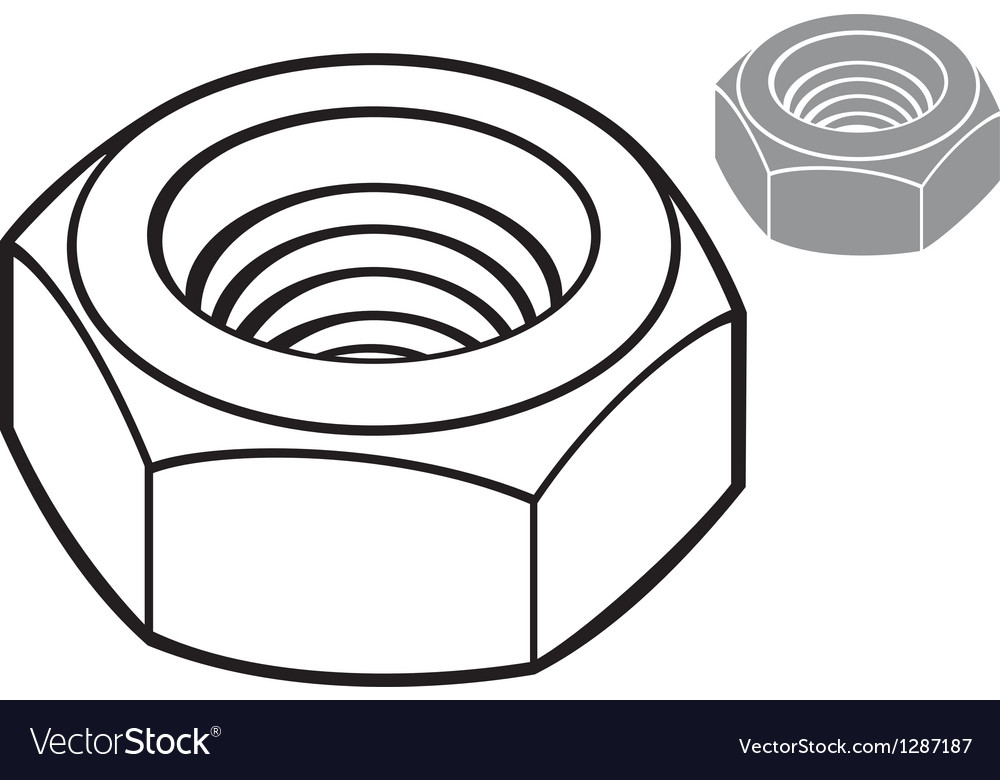 Metal nut vector