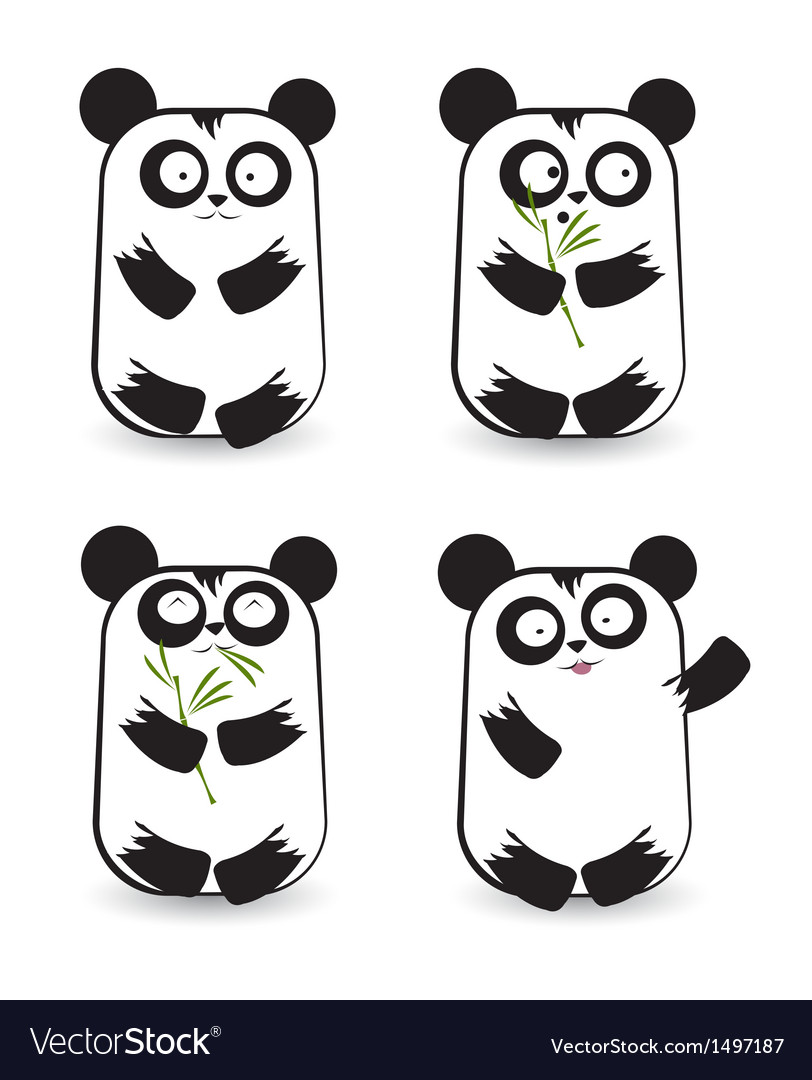Pandas 2 vector | Price: 1 Credit (USD $1)
