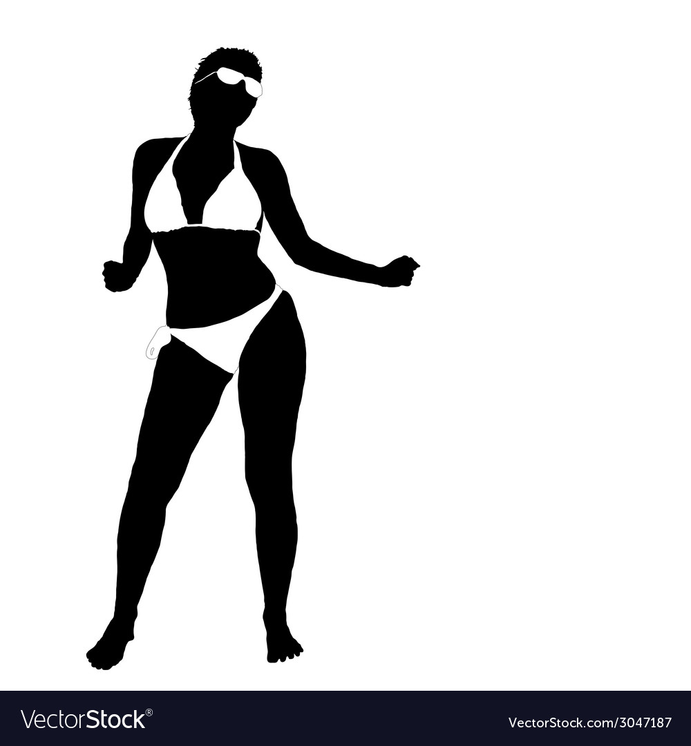Sexy girl in bikini part two vector | Price: 1 Credit (USD $1)