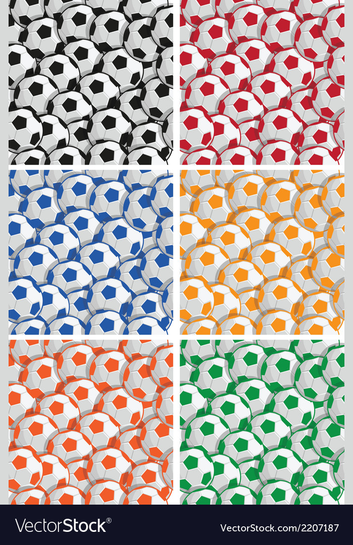 Soccer ball pattern vector | Price: 1 Credit (USD $1)