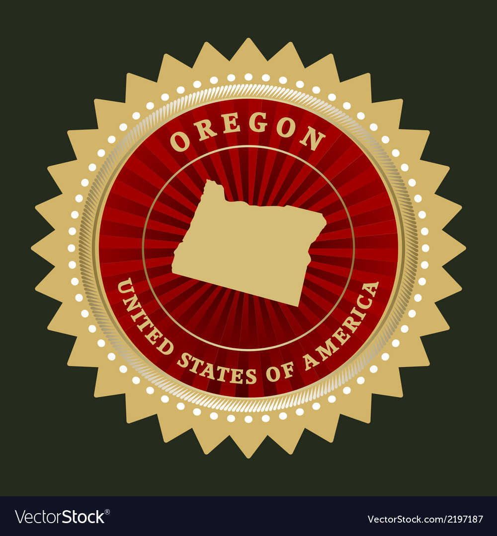 Star label oregon vector | Price: 1 Credit (USD $1)
