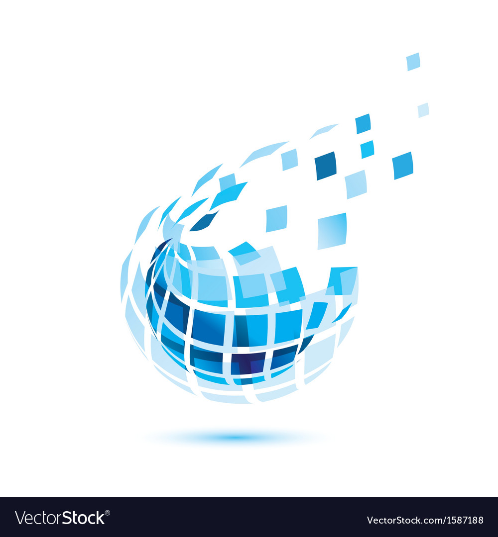 Abstract globe icon business and comunication vector