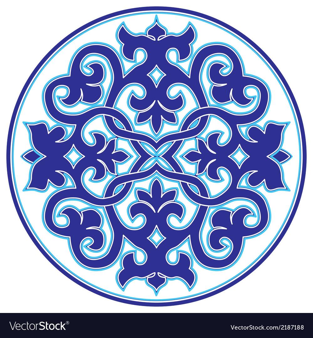 Blue oriental ottoman design twenty three version vector | Price: 1 Credit (USD $1)