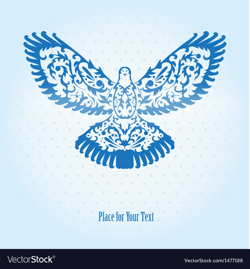 Decorative dove vector | Price: 1 Credit (USD $1)