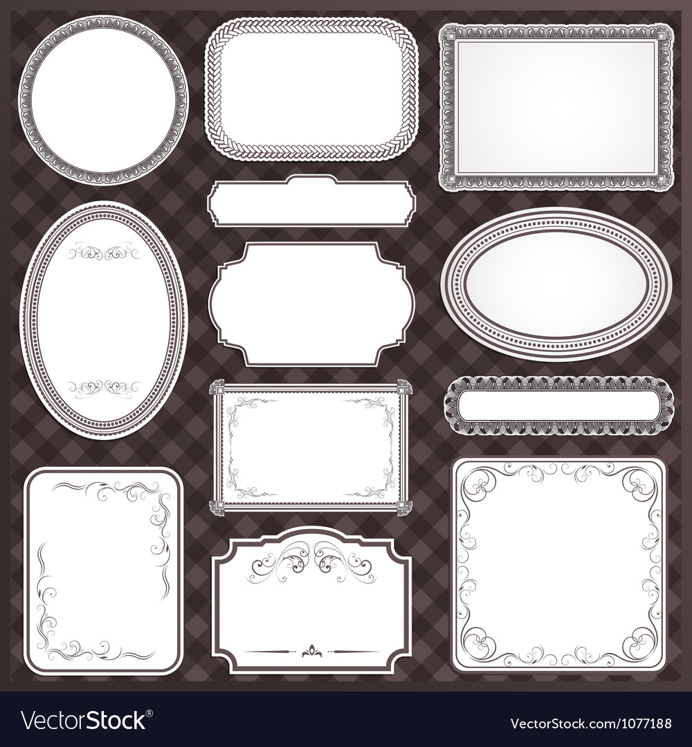 Decorative ornate certificate frame label vector | Price: 1 Credit (USD $1)