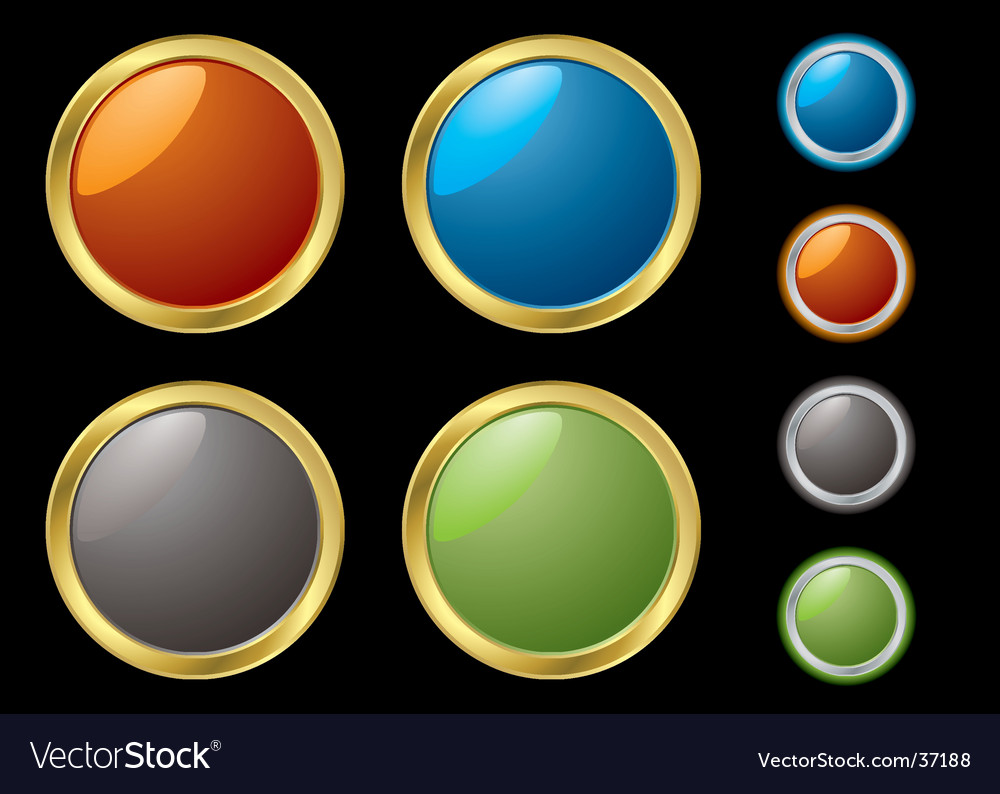 Metal rim buttons vector | Price: 1 Credit (USD $1)