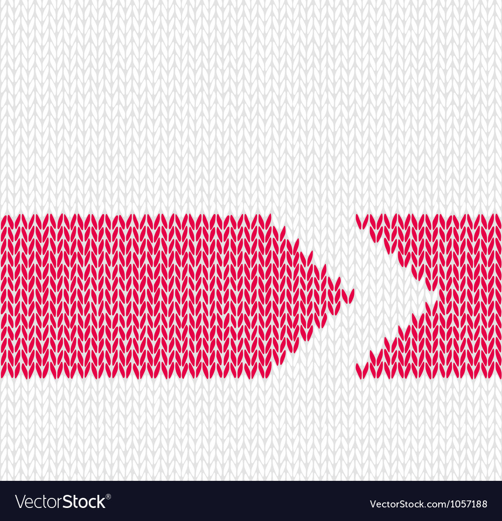 Red arrow knitted pattern vector | Price: 1 Credit (USD $1)