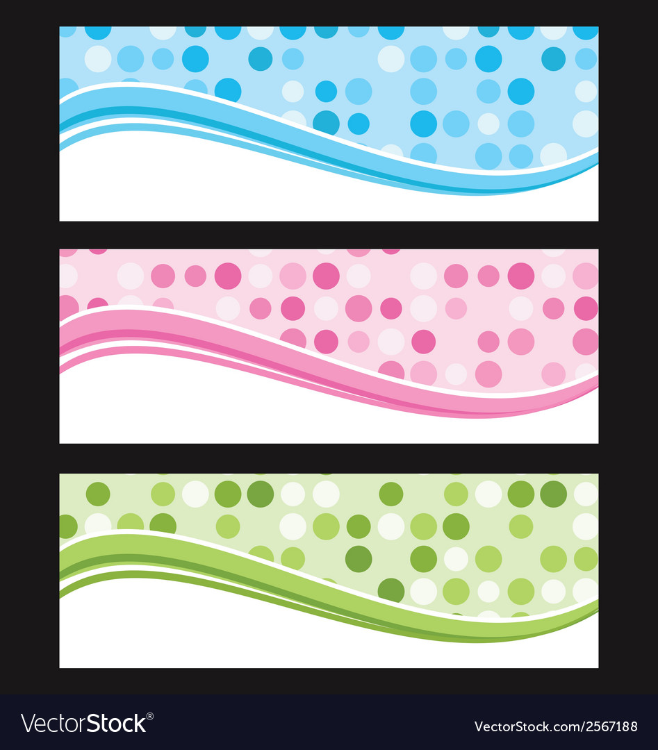 Set of wave background banner or header vector   Price: 1 Credit (USD $1)