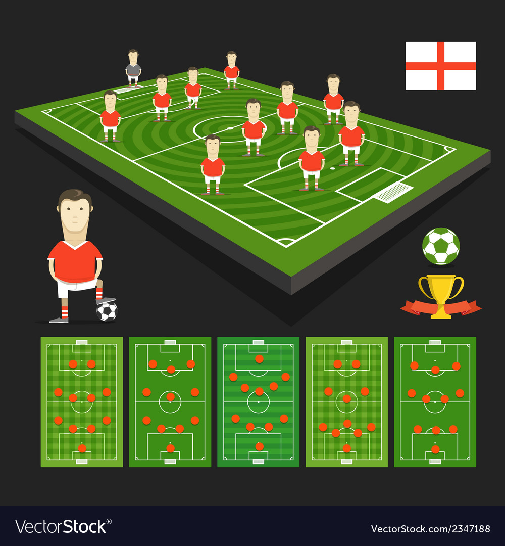 Soccer world cup team presentation vector | Price: 1 Credit (USD $1)