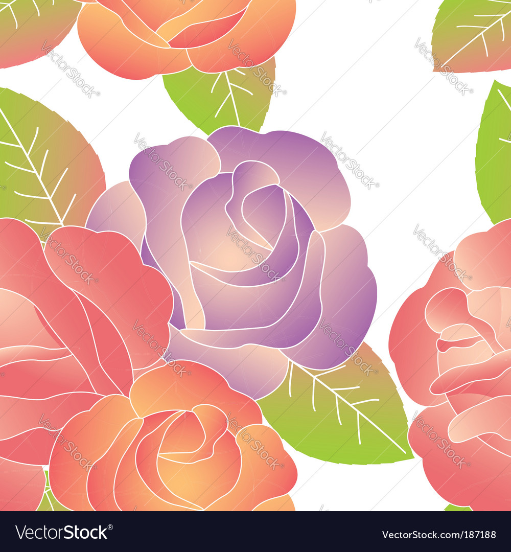 Spring summer rose pattern vector | Price:  Credit (USD $)