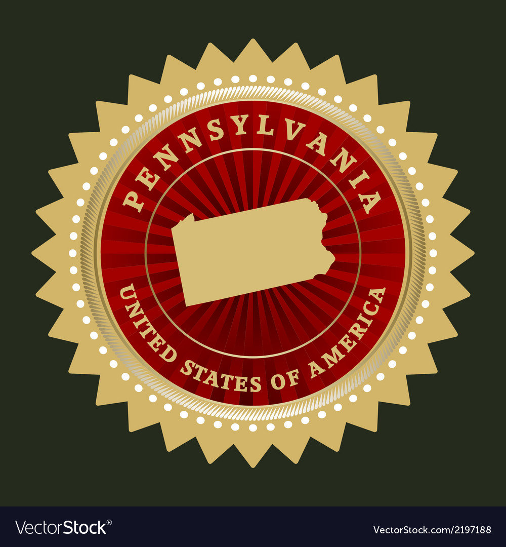 Star label pennsylvania vector | Price: 1 Credit (USD $1)
