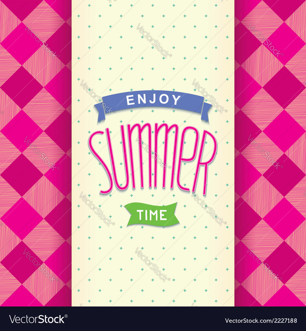 Summer postcard template design vector | Price: 1 Credit (USD $1)