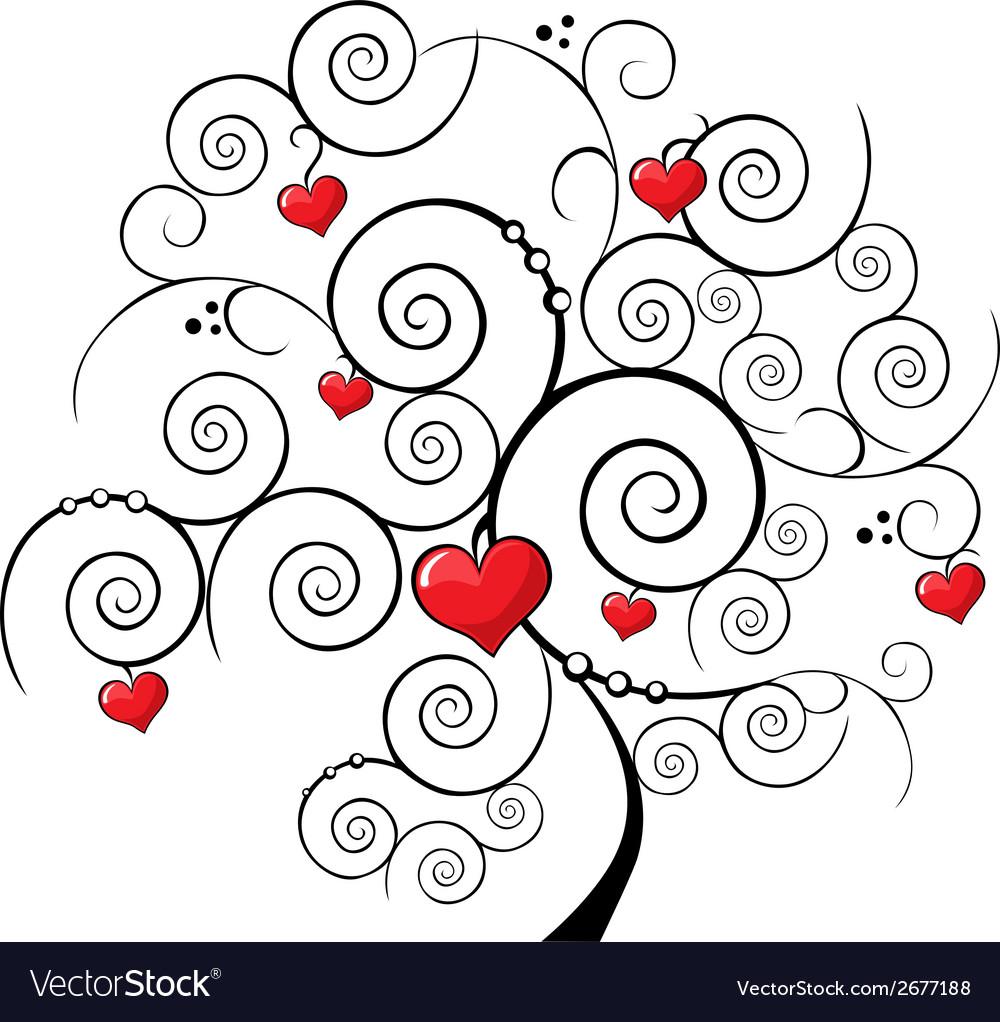 Valentine tree vector | Price: 1 Credit (USD $1)