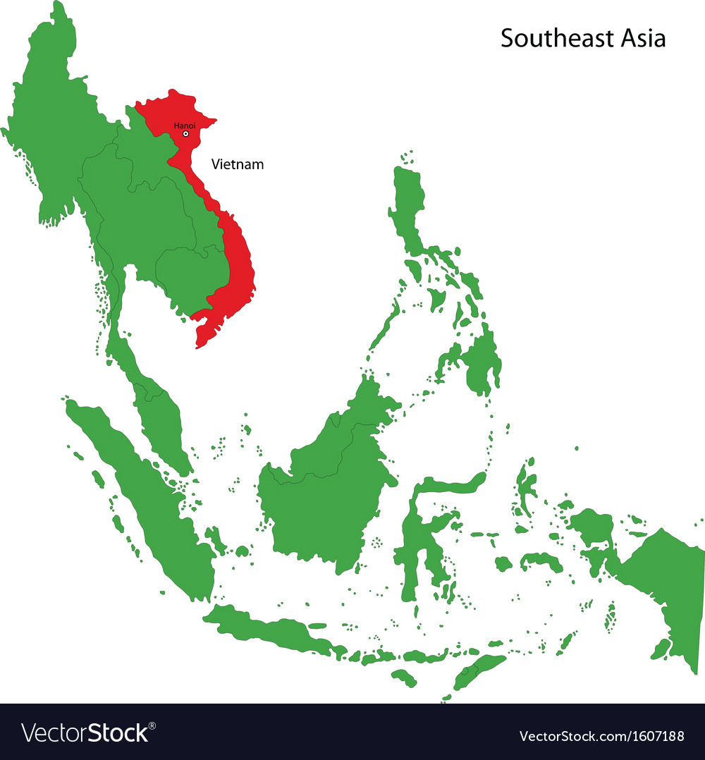 Vietnam map vector | Price: 1 Credit (USD $1)
