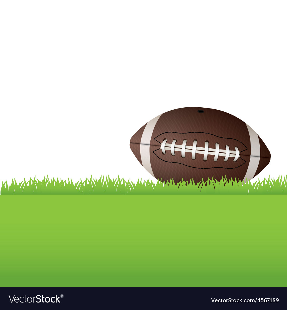 American football sitting in grass vector | Price: 1 Credit (USD $1)