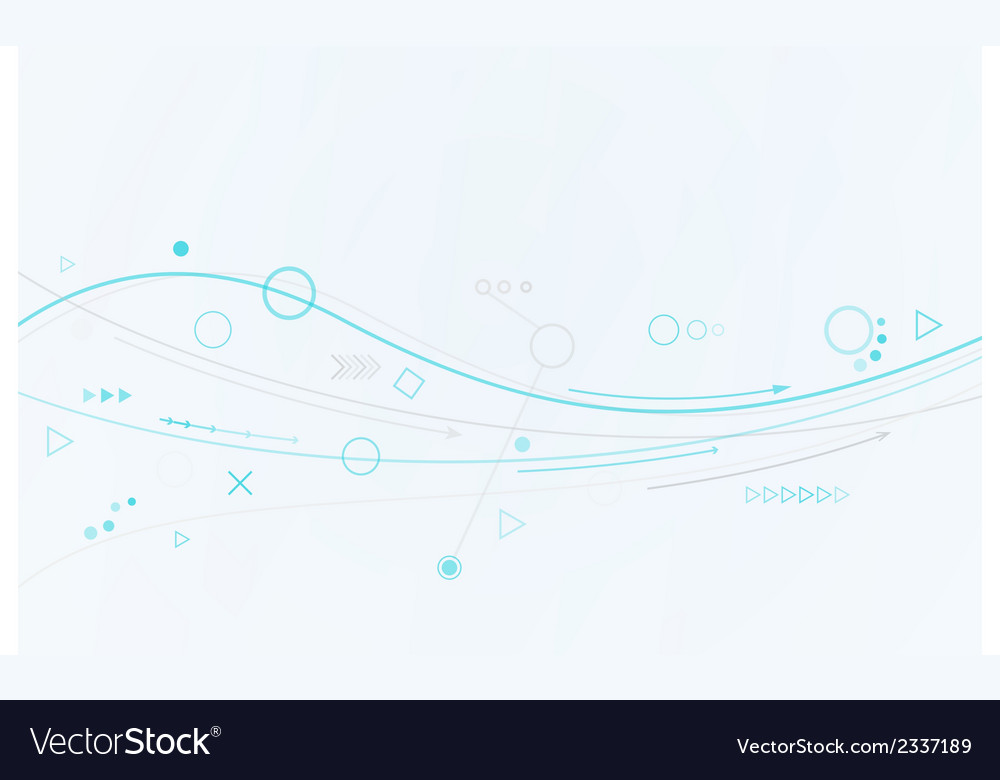 Blue lines circles and different symbols vector | Price: 1 Credit (USD $1)