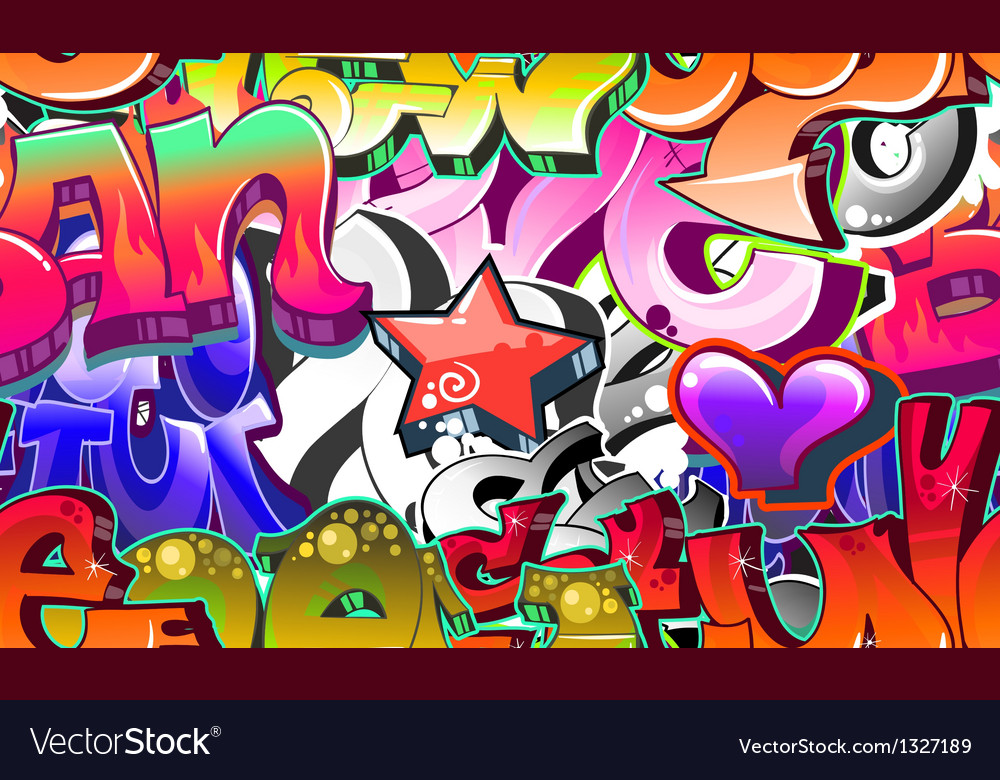 Graffiti urban art background vector | Price: 1 Credit (USD $1)