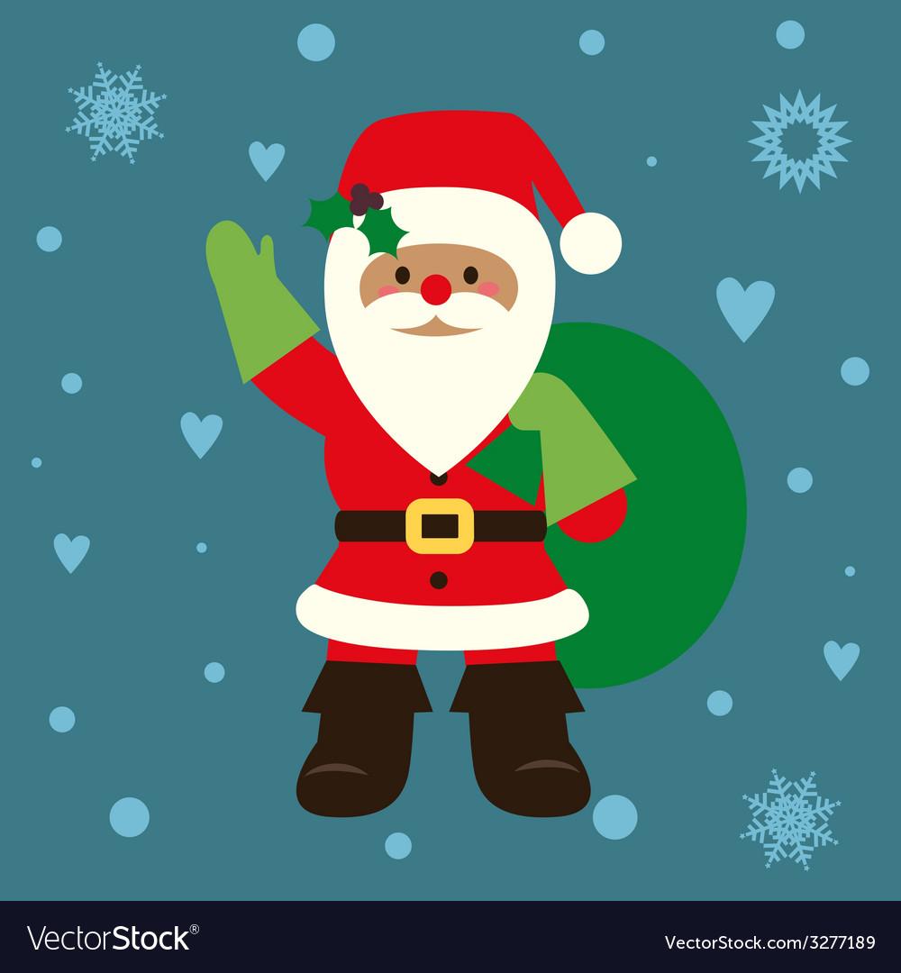 Holiday card with santa vector | Price: 1 Credit (USD $1)