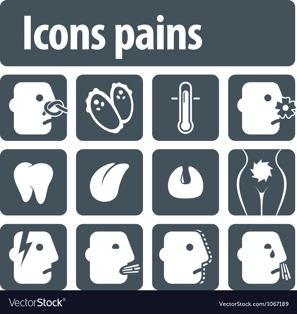 Icons pains vector | Price: 1 Credit (USD $1)