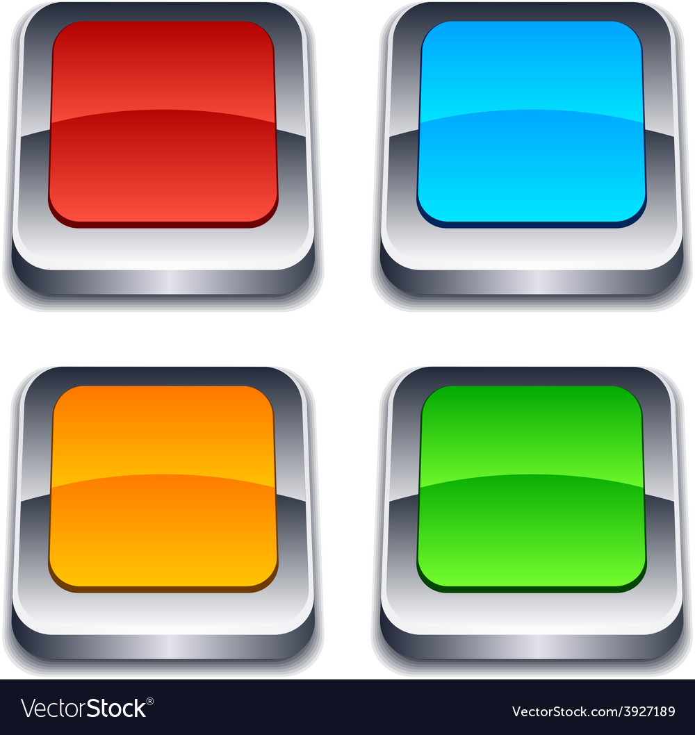 Square 3d buttons vector | Price: 1 Credit (USD $1)