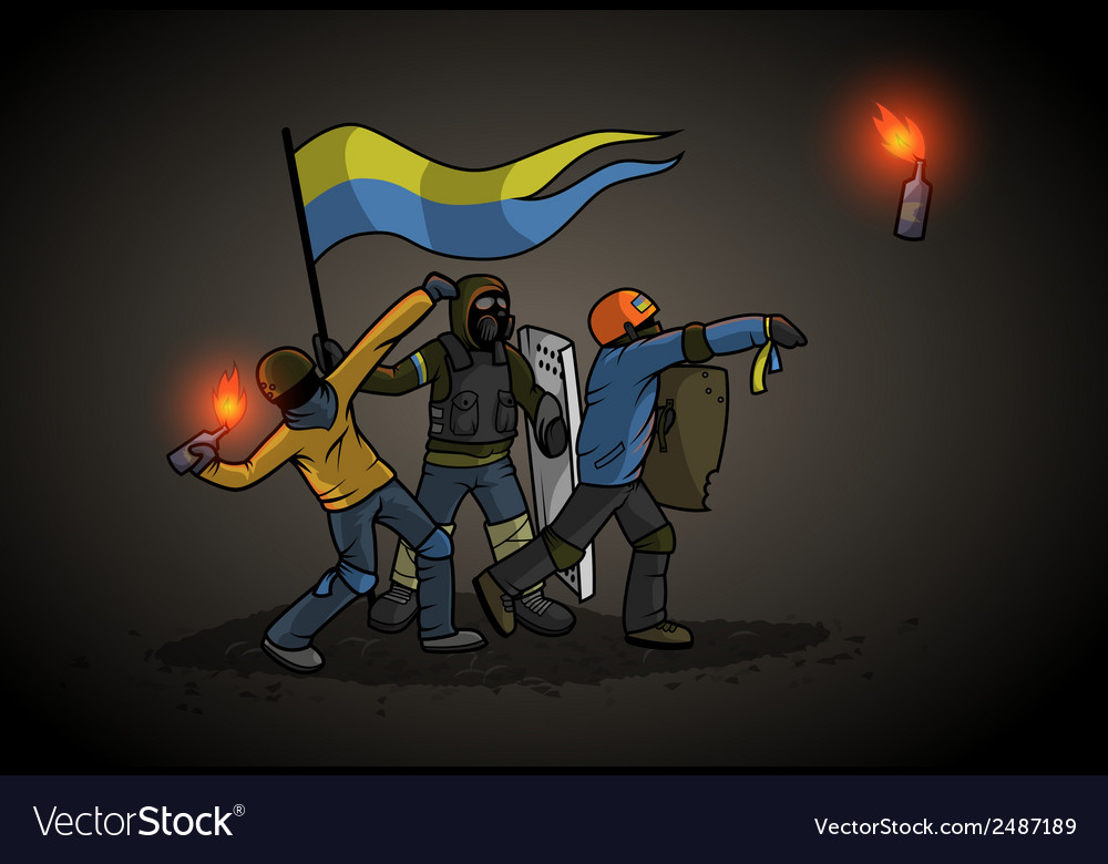 Ukrainian revolution vector | Price: 1 Credit (USD $1)