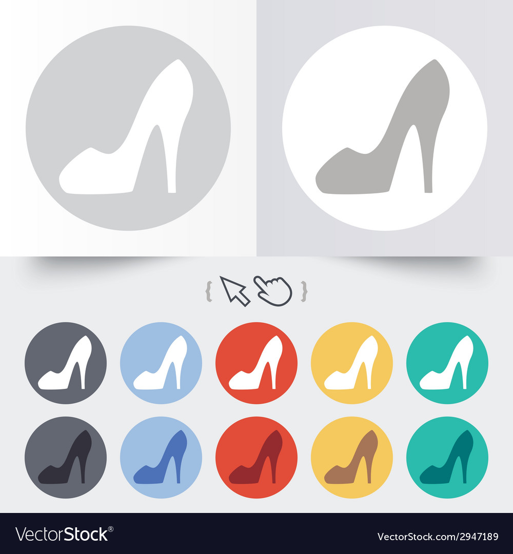 Womens shoe sign icon high heels shoe vector | Price: 1 Credit (USD $1)