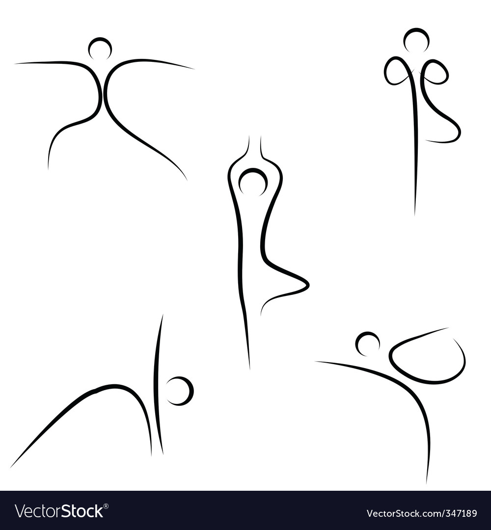 Yoga sketch vector | Price: 1 Credit (USD $1)