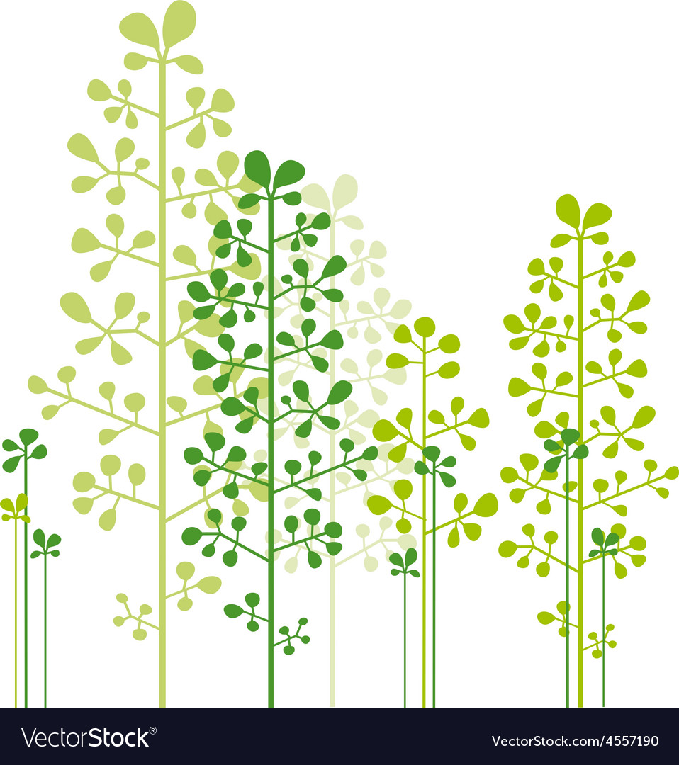 Abstract green trees vector | Price: 1 Credit (USD $1)