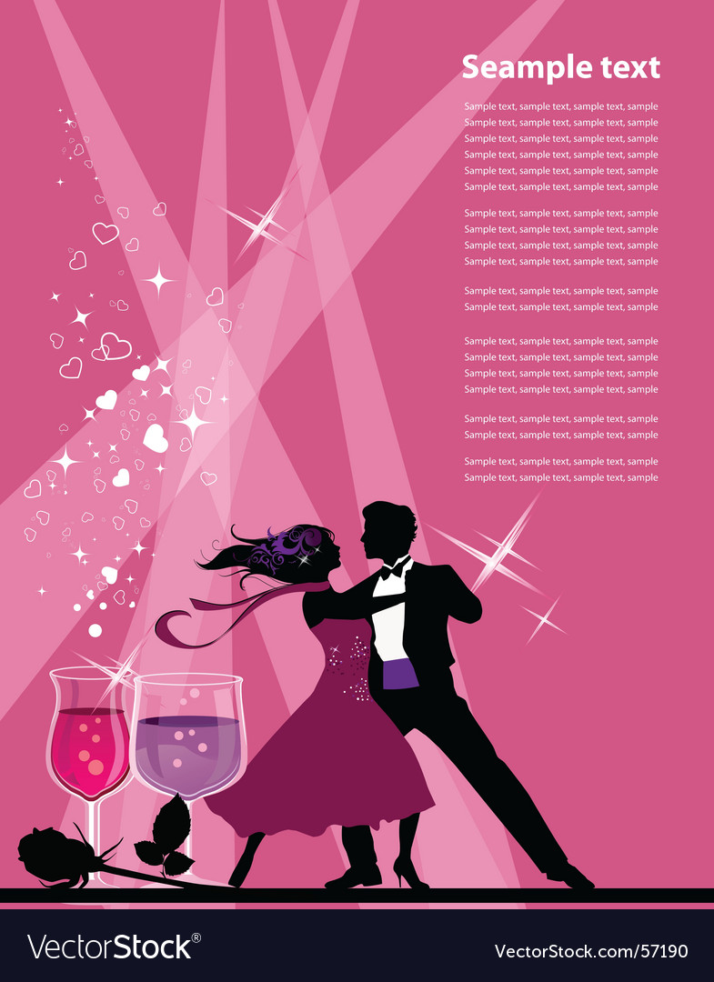 Ballroom dancers vector | Price: 1 Credit (USD $1)