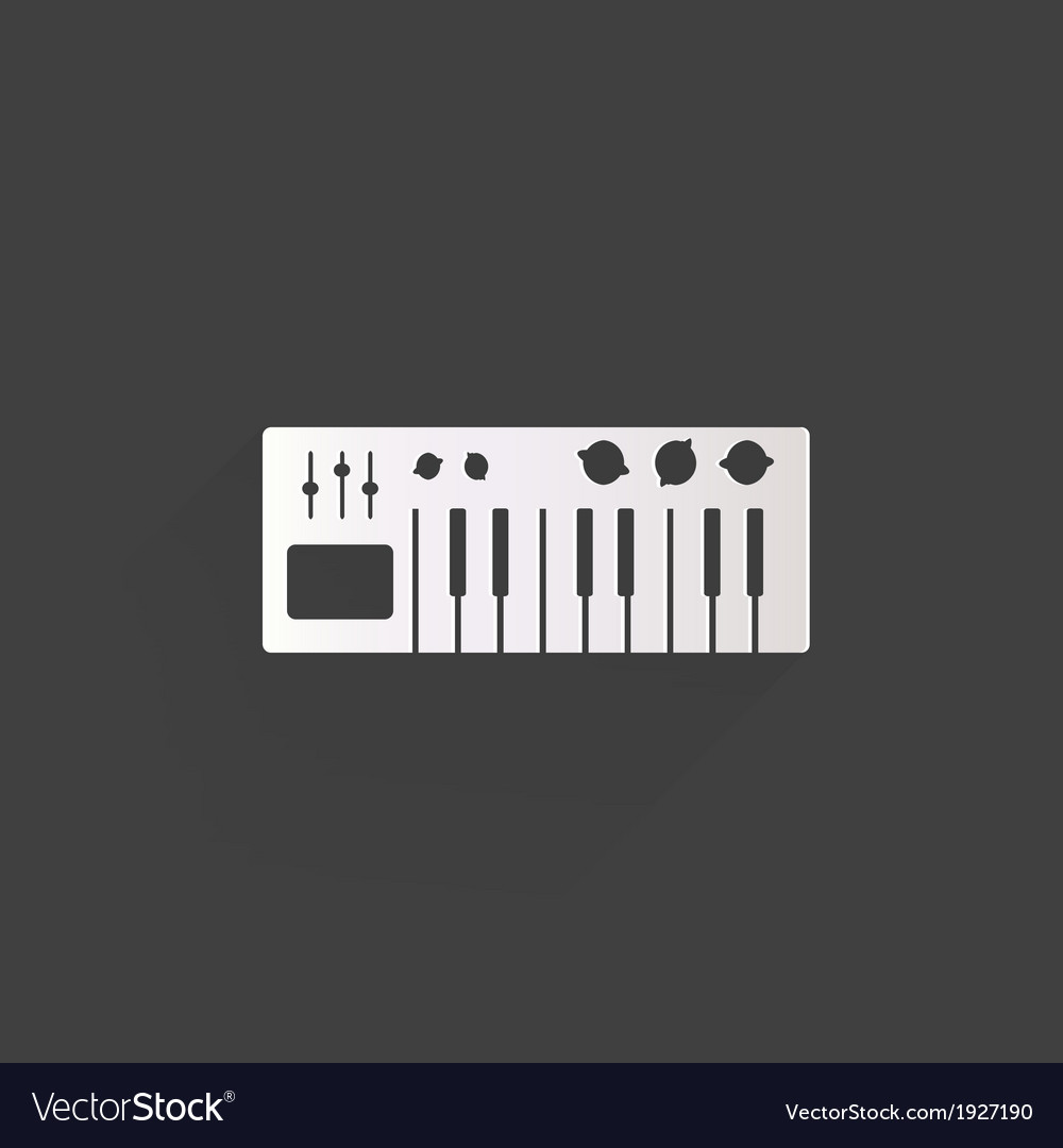 Digital piano synthesizer icon vector | Price: 1 Credit (USD $1)